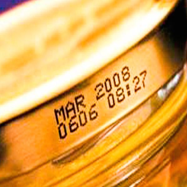 CIJ food metal lid on food packaging