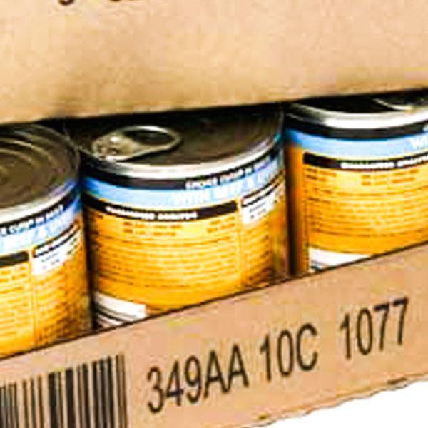 Hr food kraft carton coding with barcodes