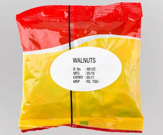 Walnuts packaging