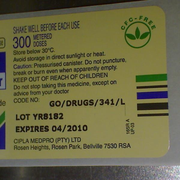 Label sample